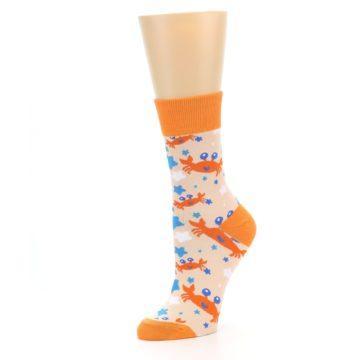 Image of Orange Blue Crabs Women's Dress Socks (side-2-09)