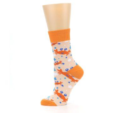 Image of Orange Blue Crabs Women's Dress Socks (side-2-11)