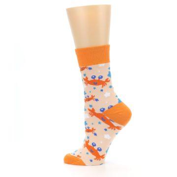 Image of Orange Blue Crabs Women's Dress Socks (side-2-12)