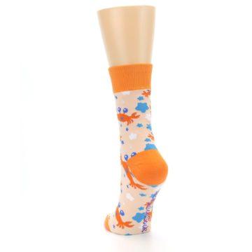 Image of Orange Blue Crabs Women's Dress Socks (side-2-back-16)