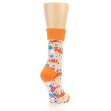 Image of Orange Blue Crabs Women's Dress Socks (side-1-back-21)