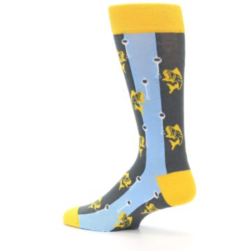 Image of Yellow Blue Fishing Men's Dress Socks (side-2-13)