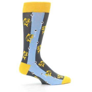 Image of Yellow Blue Fishing Men's Dress Socks (side-1-24)