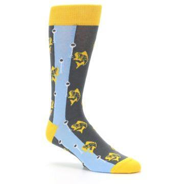 Image of Yellow Blue Fishing Men's Dress Socks (side-1-26)