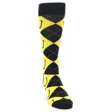 Image of LaughFest Smile Argyle Men's Dress Socks (side-1-front-03)