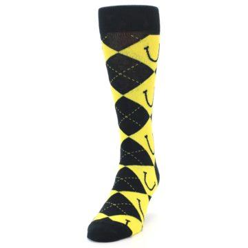 Image of LaughFest Smile Argyle Men's Dress Socks (side-2-front-06)