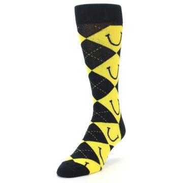 Image of LaughFest Smile Argyle Men's Dress Socks (side-2-front-07)
