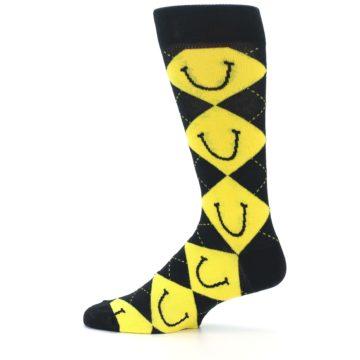 Image of LaughFest Smile Argyle Men's Dress Socks (side-2-12)