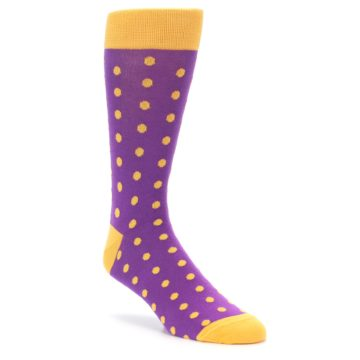 Purple and Orange Polka Dot Wedding Socks