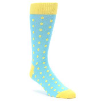 Blue and Yellow Polka Dot Groomsmen Socks