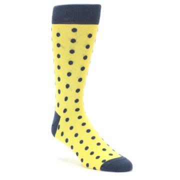 Yellow and Grey Polka Dot Wedding Socks