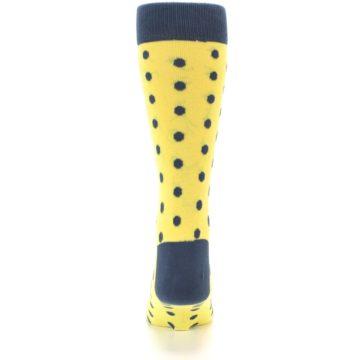 Image of Yellow Polka Dots Men's Dress Socks (back-18)