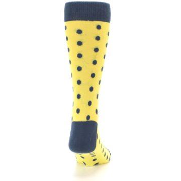Image of Yellow Polka Dots Men's Dress Socks (back-19)