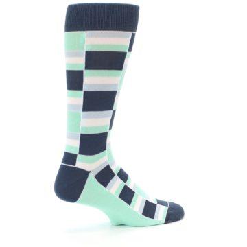 Image of Mint Blues Stacked Men's Dress Socks (side-1-23)