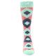 Image of Coral Mint Argyle Wedding Groomsmen Men's Dress Socks (front-04)