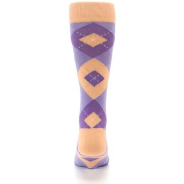 Image of Orchid Purple Peach Argyle Men's Dress Socks (back-18)