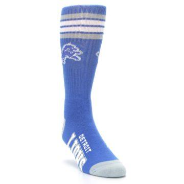 Image of Detroit Lions Men's Athletic Crew Socks (side-1-front-02)