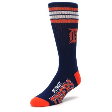 Image of Detroit Tigers Men's Athletic Crew Socks (side-2-front-08)
