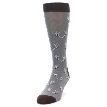 Image of Grey Deer Antlers Men's Dress Socks (side-2-front-06)