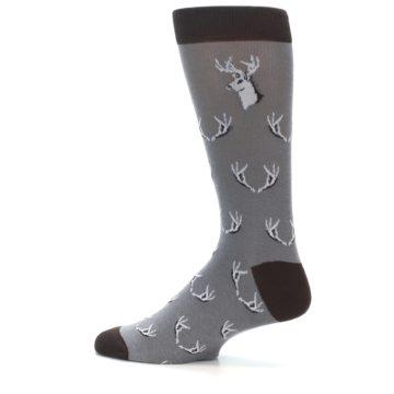 Image of Grey Deer Antlers Men's Dress Socks (side-2-12)