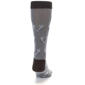 Image of Grey Deer Antlers Men's Dress Socks (back-18)