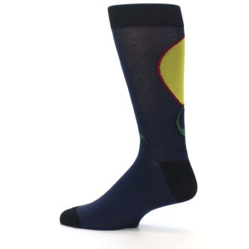 Image of T-Rex Dinosaur Men's Dress Socks (side-2-12)