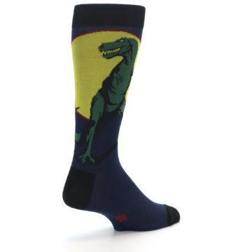 Image of T-Rex Dinosaur Men's Dress Socks (side-1-back-21)
