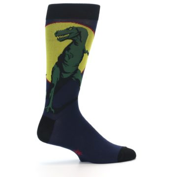 Image of T-Rex Dinosaur Men's Dress Socks (side-1-23)