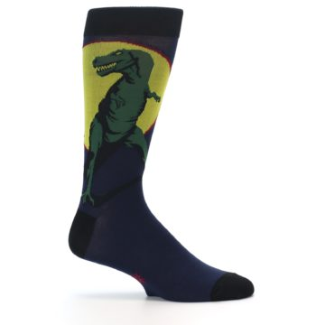 Image of T-Rex Dinosaur Men's Dress Socks (side-1-24)