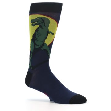 Image of T-Rex Dinosaur Men's Dress Socks (side-1-25)