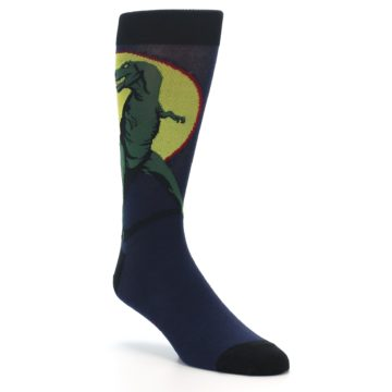 Image of T-Rex Dinosaur Men's Dress Socks (side-1-27)
