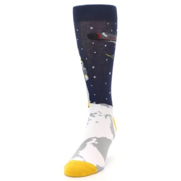 Image of Moon Astronaut Men's Dress Socks (side-2-front-06)