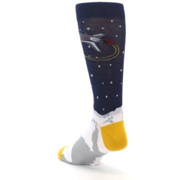 Image of Moon Astronaut Men's Dress Socks (side-2-back-15)