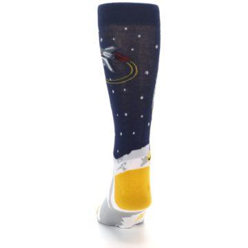 Image of Moon Astronaut Men's Dress Socks (back-17)