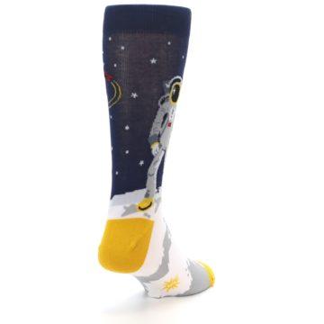 Image of Moon Astronaut Men's Dress Socks (side-1-back-20)
