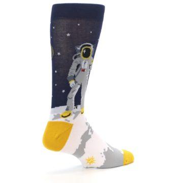 Image of Moon Astronaut Men's Dress Socks (side-1-back-22)