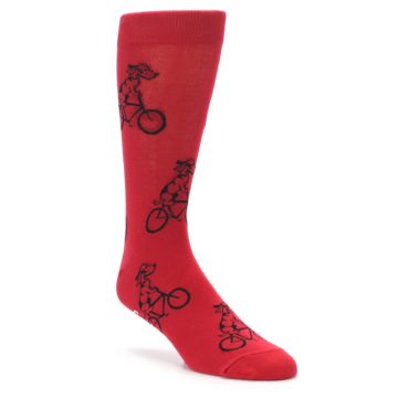 Men's Novelty Socks with Dog Riding Bike