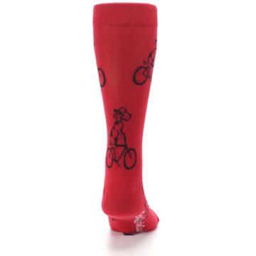 Image of Red Dog on Bike Men's Dress Socks (back-19)