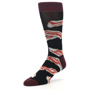 Image of Bacon Men's Dress Socks (side-2-front-08)