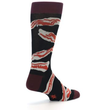 Image of Bacon Men's Dress Socks (side-1-back-21)