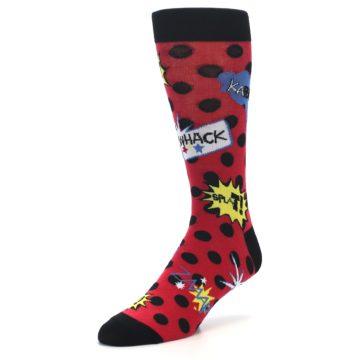 Image of Red Black Blamo Men's Dress Socks (side-2-front-08)