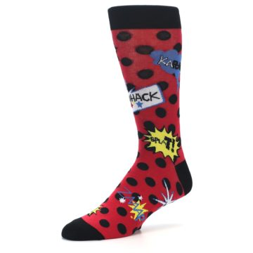 Image of Red Black Blamo Men's Dress Socks (side-2-09)