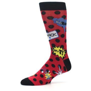 Image of Red Black Blamo Men's Dress Socks (side-2-10)