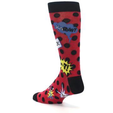 Image of Red Black Blamo Men's Dress Socks (side-2-back-14)