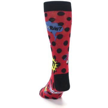Image of Red Black Blamo Men's Dress Socks (side-2-back-16)
