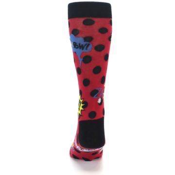 Image of Red Black Blamo Men's Dress Socks (back-17)