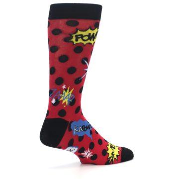 Image of Red Black Blamo Men's Dress Socks (side-1-back-22)