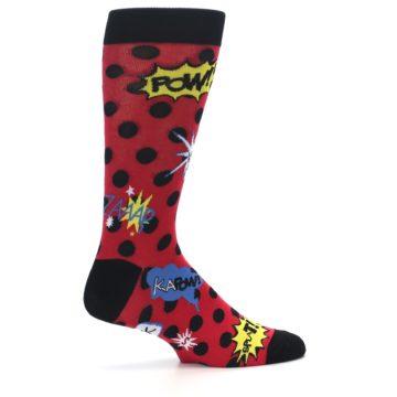 Image of Red Black Blamo Men's Dress Socks (side-1-23)