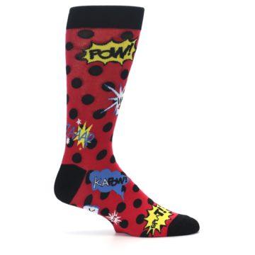 Image of Red Black Blamo Men's Dress Socks (side-1-24)