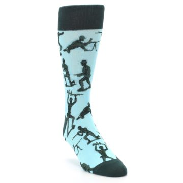 Image of Toy Army Figures Men's Dress Socks (side-1-front-02)